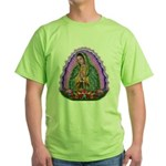 Lady of Guadalupe T4 Green T-Shirt