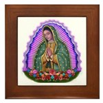 Lady of Guadalupe T4 Framed Tile