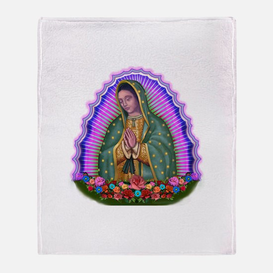 Lady of Guadalupe T4 Throw Blanket