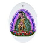 Lady of Guadalupe T4 Ornament (Oval)