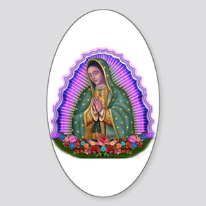 Lady of Guadalupe T4 Sticker (Oval)