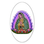 Lady of Guadalupe T4 Sticker (Oval 50 pk)