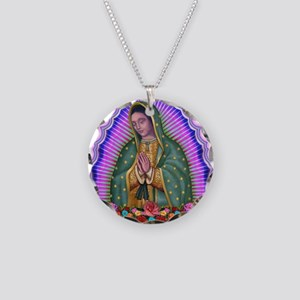 Lady of Guadalupe T4 Necklace Circle Charm