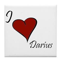 I love Darius Tile Coaster