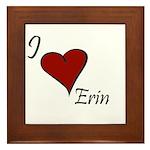 I love Erin Framed Tile