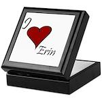 I love Erin Keepsake Box