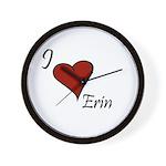 I love Erin Wall Clock