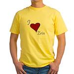 I love Erin Yellow T-Shirt