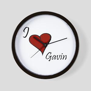 I love Gavin Wall Clock