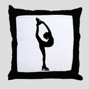 Figure Skating Throw Pillow