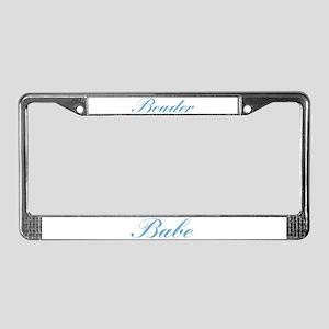 Beader Babe License Plate Frame