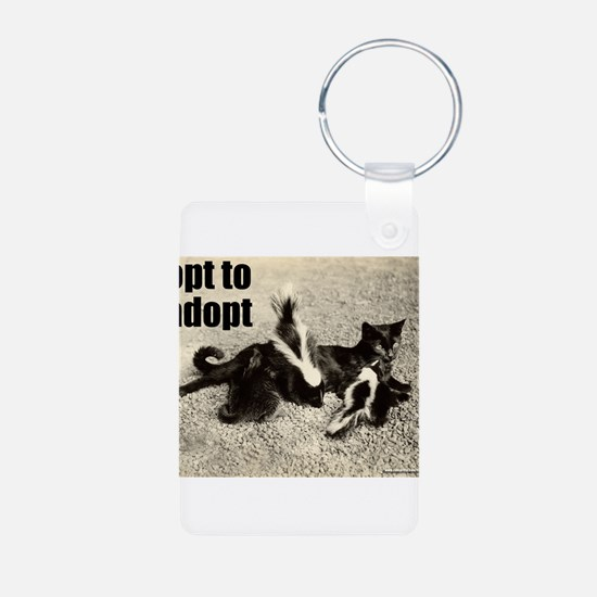 Opt To Adopt Cat Keychains