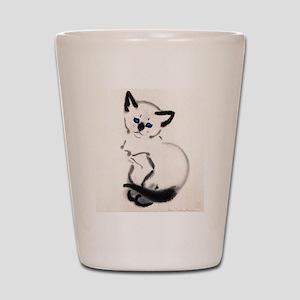 Siamese Cat Art Shot Glass