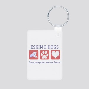 Eskimo Dog Lover Aluminum Photo Keychain