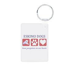Eskimo Dog Lover Aluminum Photo Keychain