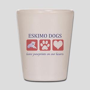 Eskimo Dog Lover Shot Glass