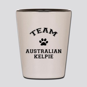 Team Australian Kelpie Shot Glass