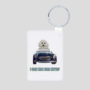 LOL Bichon Frise Aluminum Photo Keychain