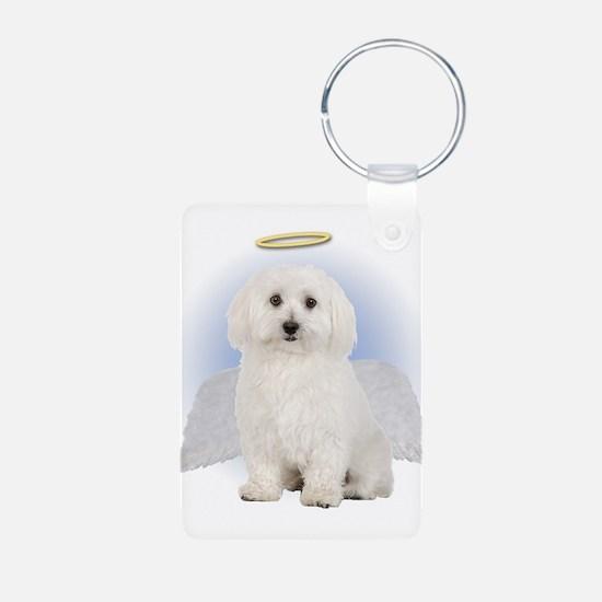 Angel Bichon Frise Keychains
