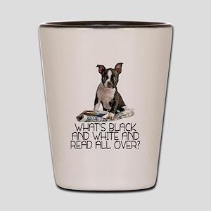 Boston Terrier Riddle Shot Glass
