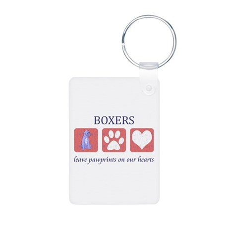 Boxer Lover Gifts Aluminum Photo Keychain