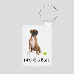 Boxer Life Aluminum Photo Keychain