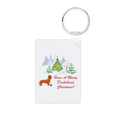 Dachshund Christmas Keychains