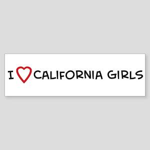 I Love California Girls Bumper Sticker