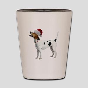 English Foxhound Christmas Shot Glass