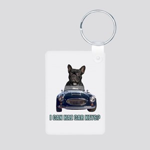 LOL French Bulldog Aluminum Photo Keychain