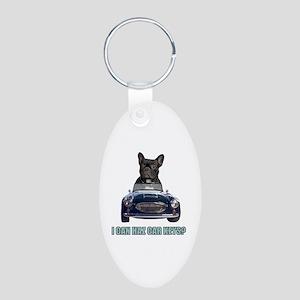 LOL French Bulldog Aluminum Oval Keychain