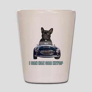 LOL French Bulldog Shot Glass