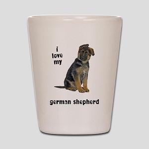 German Shepherd Love Shot Glass