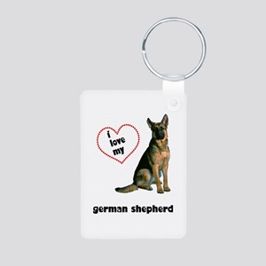 German Shepherd Lover Aluminum Photo Keychain