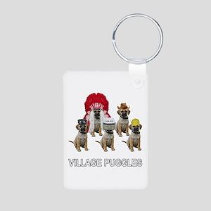 Village Puggles Aluminum Photo Keychain