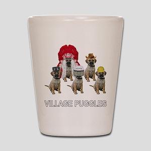 Village Puggles Shot Glass