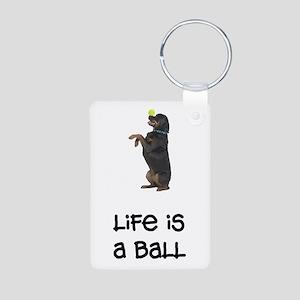 Rottweiler Life Aluminum Photo Keychain