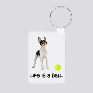 Toy Fox Terrier Life Aluminum Photo Keychain