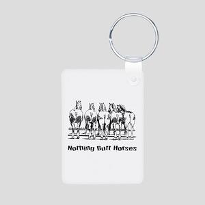 Nothing Butt Horses Aluminum Photo Keychain