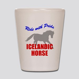 Ride With Pride Icelandic Hor Shot Glass