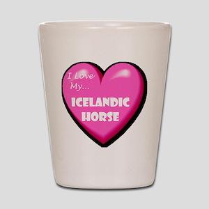 I Love My Icelandic Horse Shot Glass