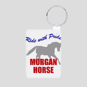Ride With Pride Morgan Horse Aluminum Photo Keycha