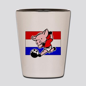 Croatia Soccer Pigs Shot Glass