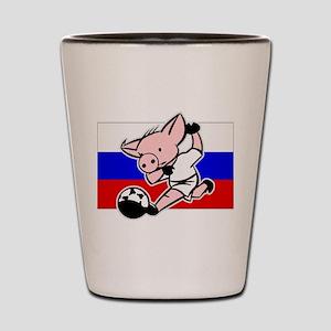 Russia Soccer Pigs Shot Glass