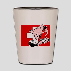 Switzerland Soccer Pigs Shot Glass