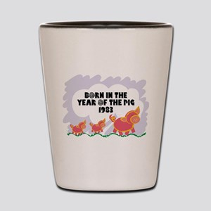 1983 Year Of The Pig Shot Glass