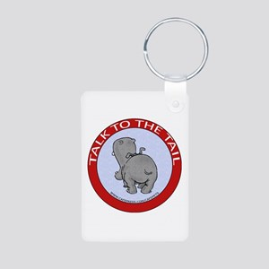 Hippo Talk To The Tail Aluminum Photo Keychain