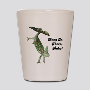 Hang In There Chameleon Shot Glass