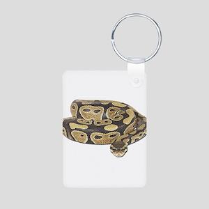 Ball Python Photo Aluminum Photo Keychain