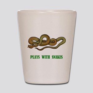 Plays With Snakes Shot Glass